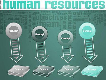 HR Word Cloud PowerPoint Template Slide 8