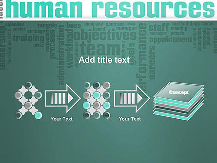HR Word Cloud PowerPoint Template Slide 9