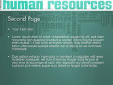 HR Word Cloud PowerPoint Template#2