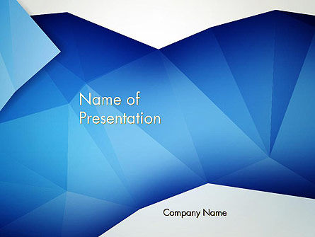 Abstract Crumpled Blue Paper PowerPoint Template