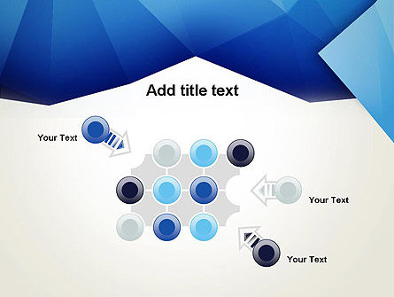 Abstract Crumpled Blue Paper PowerPoint Template Slide 10