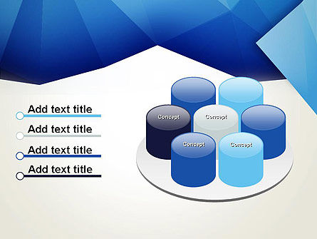 Abstract Crumpled Blue Paper PowerPoint Template Slide 12