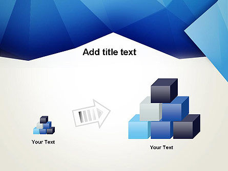 Abstract Crumpled Blue Paper PowerPoint Template Slide 13