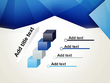 Abstract Crumpled Blue Paper PowerPoint Template Slide 14