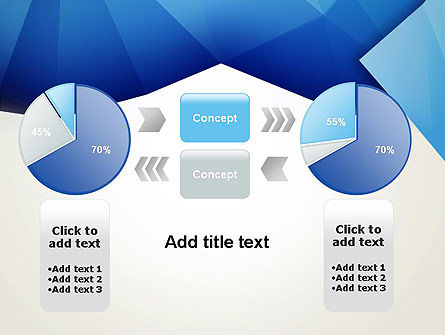 Abstract Crumpled Blue Paper PowerPoint Template Slide 16