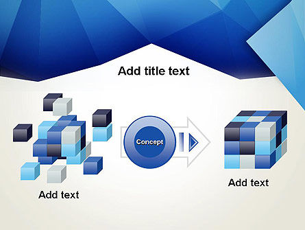 Abstract Crumpled Blue Paper PowerPoint Template Slide 17