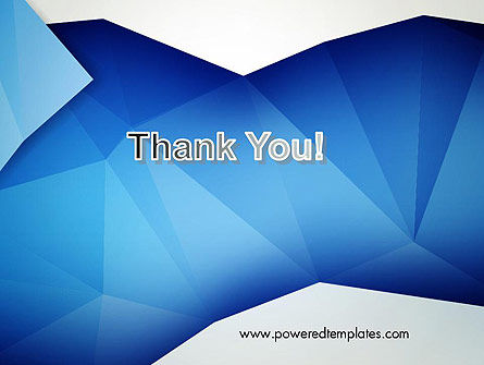 Abstract Crumpled Blue Paper PowerPoint Template Slide 20