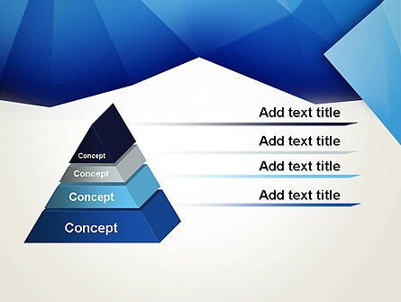 Abstract Crumpled Blue Paper PowerPoint Template Slide 4