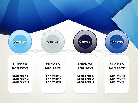 Abstract Crumpled Blue Paper PowerPoint Template Slide 5
