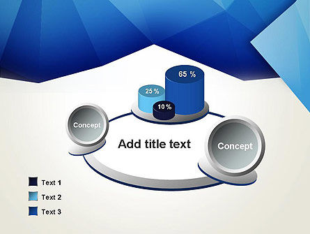 Abstract Crumpled Blue Paper PowerPoint Template Slide 6