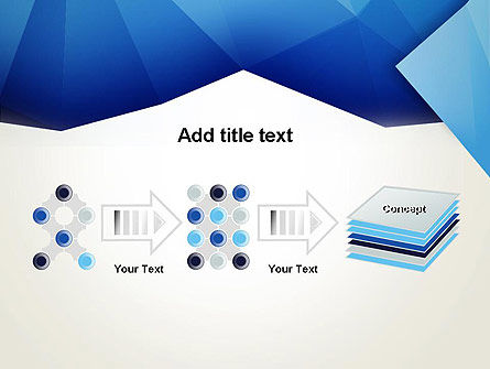 Abstract Crumpled Blue Paper PowerPoint Template Slide 9