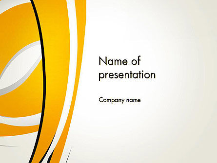 Abstract Yellow Stripes PowerPoint Template