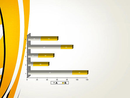 Abstract Yellow Stripes PowerPoint Template Slide 11