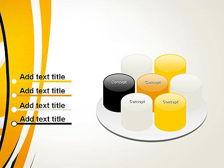 Abstract Yellow Stripes PowerPoint Template Slide 12