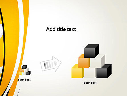 Abstract Yellow Stripes PowerPoint Template Slide 13