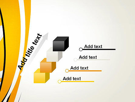 Abstract Yellow Stripes PowerPoint Template Slide 14