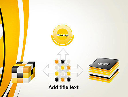 Abstract Yellow Stripes PowerPoint Template Slide 19