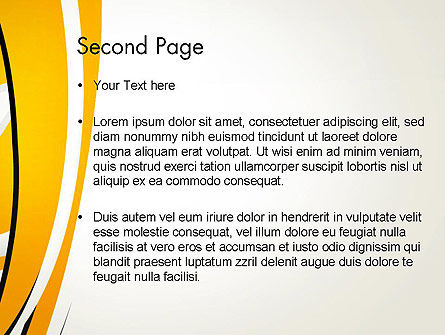 Abstract Yellow Stripes PowerPoint Template Slide 2