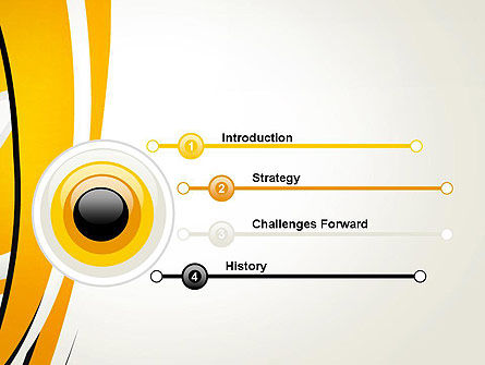 Abstract Yellow Stripes PowerPoint Template Slide 3