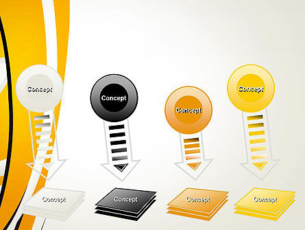 Abstract Yellow Stripes PowerPoint Template Slide 8