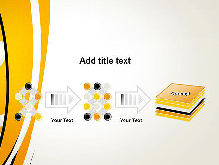 Abstract Yellow Stripes PowerPoint Template Slide 9
