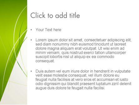 Abstract Green Paper Frame PowerPoint Template, Slide 3, 13005, Abstract/Textures — PoweredTemplate.com