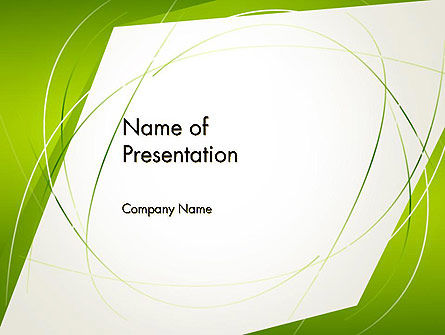 Abstract Green Paper Frame PowerPoint Template