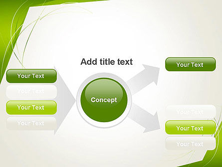 Abstract Green Paper Frame PowerPoint Template Slide 14