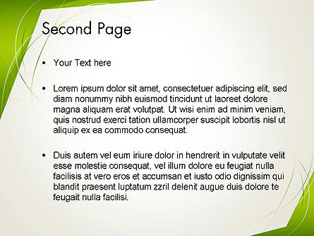 Abstract Green Paper Frame PowerPoint Template Slide 2