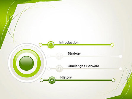 Abstract Green Paper Frame PowerPoint Template Slide 3