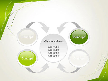 Abstract Green Paper Frame PowerPoint Template Slide 6