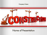 Construction: Building Construction PowerPoint Template #13007