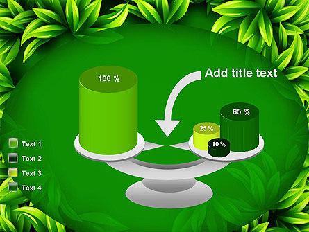 Green Leaves Frame PowerPoint Template Slide 10