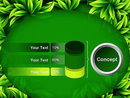Green Leaves Frame PowerPoint Template Slide 11