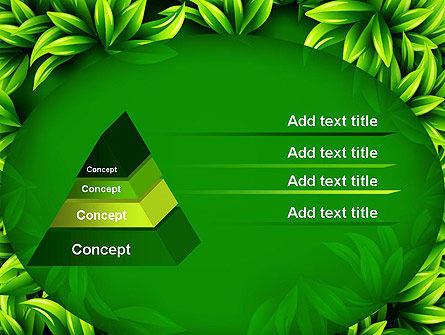 Green Leaves Frame PowerPoint Template Slide 12