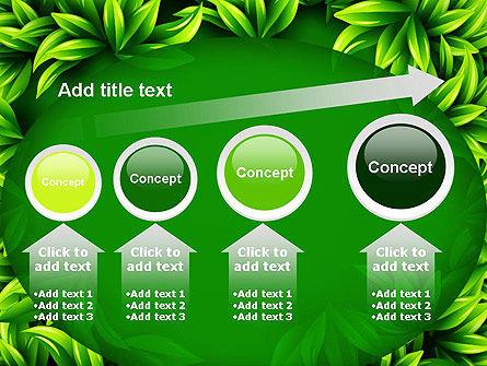 Green Leaves Frame PowerPoint Template Slide 13