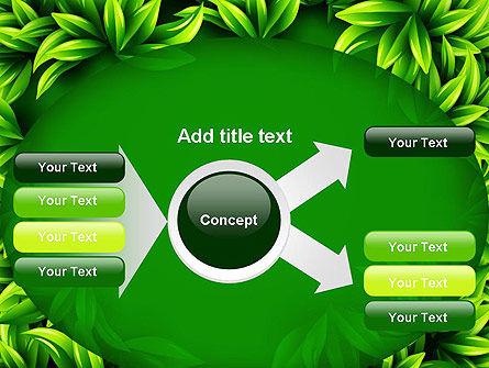 Green Leaves Frame PowerPoint Template Slide 14