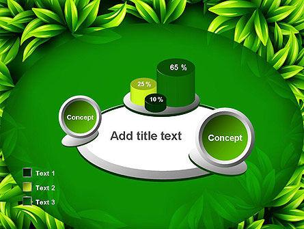 Green Leaves Frame PowerPoint Template Slide 16