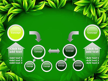 Green Leaves Frame PowerPoint Template Slide 19