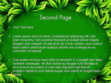 Green Leaves Frame PowerPoint Template Slide 2