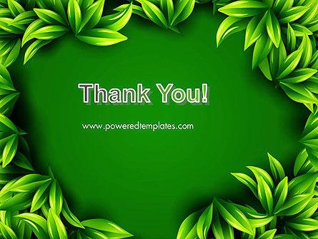 Green Leaves Frame PowerPoint Template Slide 20
