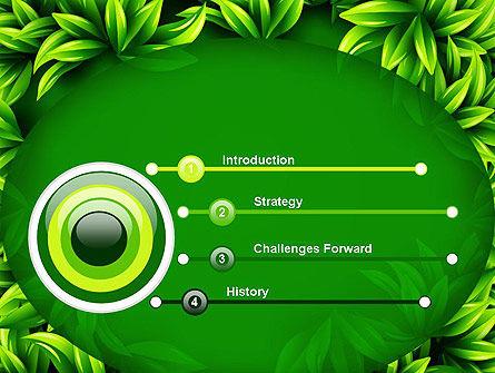 Green Leaves Frame PowerPoint Template Slide 3