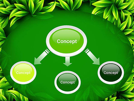 Green Leaves Frame PowerPoint Template, Slide 4, 13008, Abstract/Textures — PoweredTemplate.com