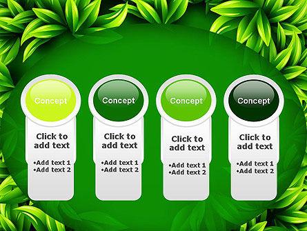 Green Leaves Frame PowerPoint Template Slide 5