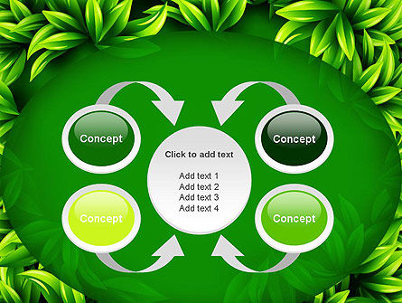 Green Leaves Frame PowerPoint Template Slide 6