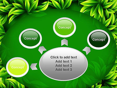 Green Leaves Frame PowerPoint Template Slide 7