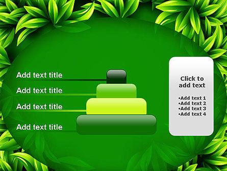 Green Leaves Frame PowerPoint Template Slide 8