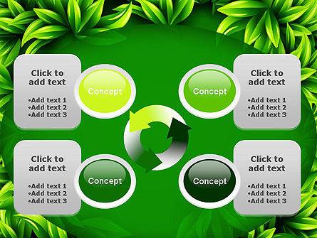 Green Leaves Frame PowerPoint Template Slide 9