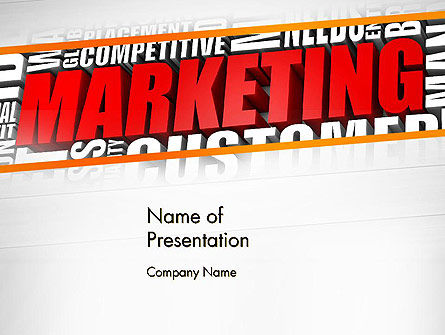 Marketing Word Cloud PowerPoint Template, 13009, Careers/Industry — PoweredTemplate.com