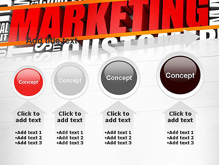 Marketing Word Cloud PowerPoint Template Slide 13